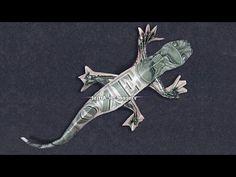 35 ideas for origami money tree dollar bills - Origami Gifts, Money Origami, Paper Crafts Origami, Paper Oragami, Money Lei, Fold Dollar Bill, Dollar Bill Origami, Dollar Bills, Origami Lizard