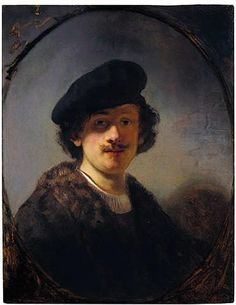 Self-portrait with Shaded Eyes - Rembrandt  - Completion Date: 1634
