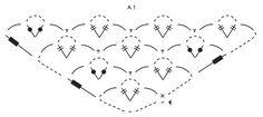 """Evening Evelyn - Xaile DROPS em croché, com ponto de estrelas, em """"Nepal"""". - Free pattern by DROPS Design"""