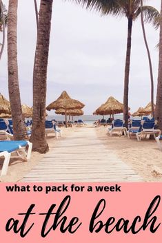 What to pack for a week at the beach ⋆ chic everywhere - what to pack for an all inclusive vacation, beach vacation packing Beach Vacation Packing, Packing List For Travel, Beach Trip, Packing Tips, Hawaii Beach, Travelling Tips, Oahu Hawaii, Beach Travel, Travel Europe