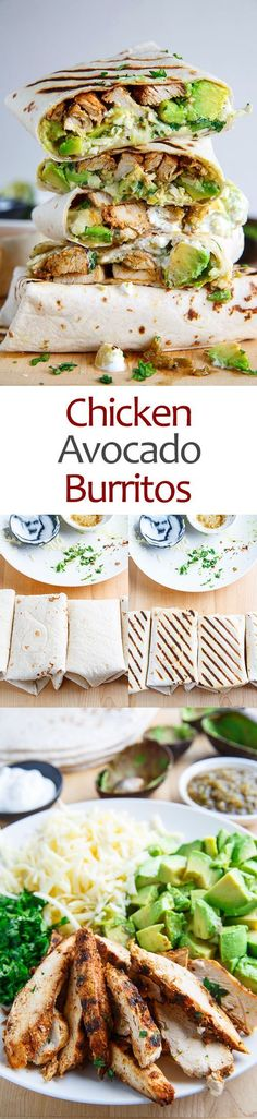 Chicken and Avocado Burritos - Tap the pin if you love super heroes too! Cause guess what? you will LOVE these super hero fitness shirts! - Tap the pin if you love super heroes too! Cause guess what? you will LOVE these super hero fitness shirts! Healthy Snacks, Healthy Eating, Healthy Recipes, Good Snacks, Healthy Lunch Ideas, Healthy Food To Lose Weight, Diet Snacks, Diet Meals, Diet Recipes