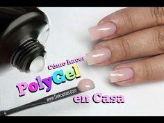 Como hacer Polygel en casa – How to do PolyGel at home - Partner Kostüm Pedicure En Gel, Manicure At Home, Gel Manicure, Polygel Nails, Diy Nails, Manicures, Manicure Colors, Nail Colors, Gel Nail Tutorial