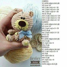 This Pin was discovered by Gay Crochet Teddy Bear Pattern, Crochet Doll Pattern, Crochet Toys Patterns, Amigurumi Patterns, Stuffed Toys Patterns, Crochet Dolls, Easter Crochet, Crochet Baby, Free Crochet