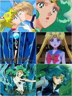 sailor moon kiss sailor uranus.....sailor neptune