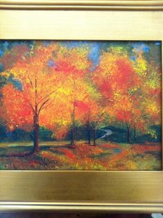 Nana's Acrylic fall trees -- Some wonderful, FREE art lessons for you and the kids.