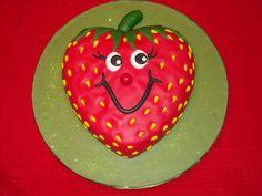 Strawberry Fun - Strawberry  fondant cake