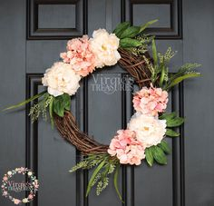 A personal favorite from my Etsy shop https://www.etsy.com/listing/509284677/beautiful-spring-time-wreath-peach