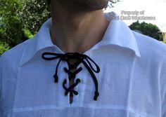 White Renaissance Style Men Shirt XL Thin Ties Lng-Slv $12.99