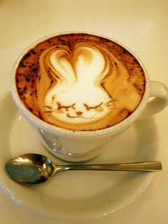 I need to marry somebody who can make bunny art in my coffee!
