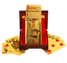 Father's Day Special! 24 Carat 99.9% Gold-Plated Full Deck Playing Cards w/ Certificate of Authenticity  $44.99 + 4.99 shipping