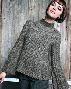Artesanato em trico e croche: Blusa de Trico Feminina com Tranças