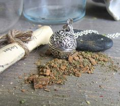 money spell necklace wiccan jewelry amulet by WhiteMoonWitchcraft