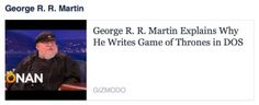 What Does George R. R. Martin's Archaic Word Processor Teach Us About Independent Business?