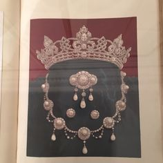 Original drawing by Garrard and Co. of the set given by the future Edward VII to his bride, Alexandra of Denmark.