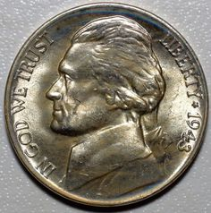 1943-P JEFFERSON NICKEL-MINT STATE / BRILLIANT UNCIRCULATED-KM 192a-FREE US SHIP