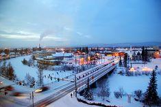 Fairbanks, AK in the winter.