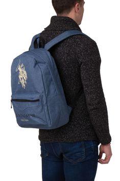 2ad14701b779 U.S. POLO ASSN. Backpack Logo Emblems Zipped Two Strap BAG044  fashion   clothing