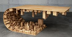 Inception-Inspired Coffee Table Bends A City In Your Living Room | Bored Panda