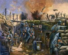French infantry in trenches