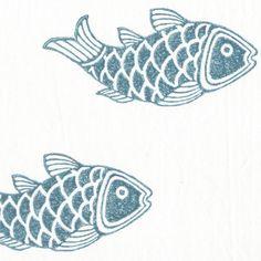 Fish stamps  Poisson - set de lit - Ketiketa