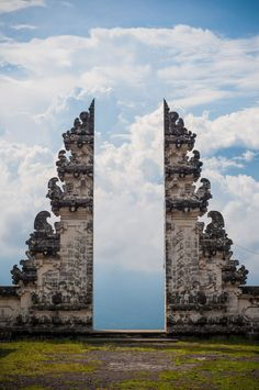 View from the door of The Big White Temple... Pura Lempuyang in Bali, Indonesia by GophObservation