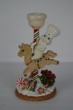 Pillsbury Doughboy Danbury Mint Christmas Candle Stick 2004 Dough Boy Carousel