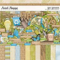 Go Green - Digital Scrapbook Kit