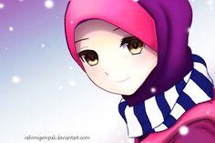 Muslim Anime Qaimasarah : It's snowing by Rahimi-AF on DeviantArt