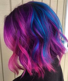 Colorful Rainbow Hair Ideas In 2020 Pin On ⚜ Love Your Hair ⚜ Of 96 Inspirational Colorful Rainbow Hair Ideas In 2020 Vibrant Hair Colors, Hair Dye Colors, Bright Hair, Galaxy Hair Color, Hair Goals Color, Vivid Hair Color, Pastel Hair, Blue Purple Hair, Pink Blue