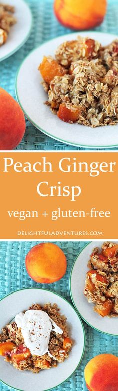 This delicious gluten-free Vegan Peach Ginger Crisp makes great use of sweet…
