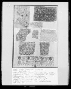 koln heraldic fragments Medieval Embroidery, Medieval Crafts, Textiles, Woven Belt, Illustrations, 14th Century, Historical Clothing, Handicraft, Fiber Art
