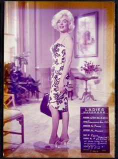 "Monroe poses in another wardrobe in a test photo on the set of ""Something's Got to Give."""