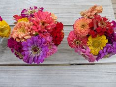 BUTTER WAKEFIELD adores Zinnias and can't resist bunches of them all summer long.