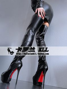 GIANMARCO LORENZI high heeled black leather back zip boots jackboot Europe