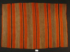 Blanket | Detroit Institute of Arts Museum Indian Blankets, Striped Rug, Mountain Man, Woven Rug, American Indians, Navajo, Art Museum, Detroit, 19th Century