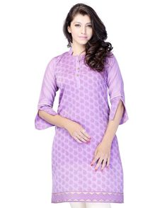 This is a casual/office wear tunic - kurti made from jacquard fabric.  Size Guide:  S - 36 Inches(Bust).  M - 38 Inches(Bust).  L - 40 Inches(Bust).  XL