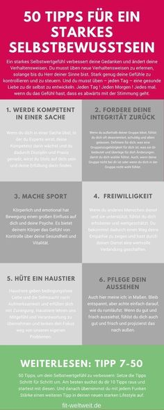 Ein starkes Selbstbewusstsein aufbauen: 50 Tipps - Teil 1 (Tipp Train self-confidence - generally become more self-confident. For a seminar, children, your work. Online tips to build self-confid I Am Statements, Mental Training, Psychology Quotes, Psychology Careers, Health Psychology, Personality Psychology, Forensic Psychology, Educational Psychology, Developmental Psychology