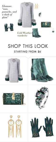 """Cold Weather Outfit"" by rebeccadavisblogger on Polyvore featuring Philipp Plein, Yves Saint Laurent, Dolce&Gabbana, Charlotte Russe, Karl Lagerfeld and Valentino"
