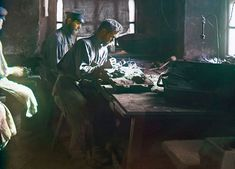 "Molding of an artistic casting (Kasli Iron Works), 1910. From the album ""Views in the Ural Mountains, survey of industrial area, Russian Empire"""
