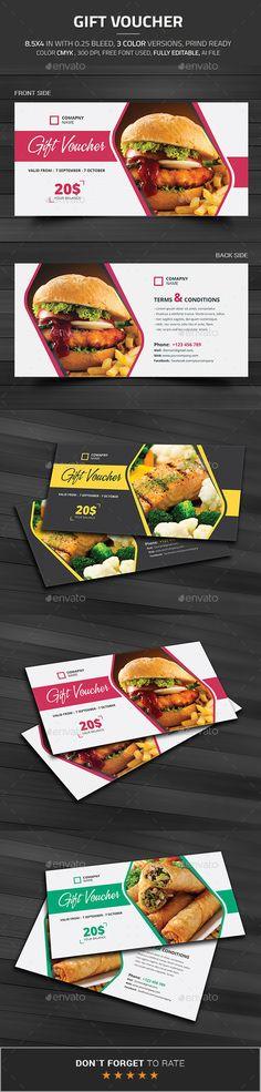 Gift Voucher Template #design Buy and Download: http://graphicriver.net/item/gift-voucher/12836540?ref=ksioks