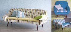 Sofa-loveseat possibility.  Great fabric.  #sofa #designers guild