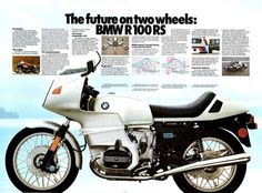 BMW R100 RS advert from 1978