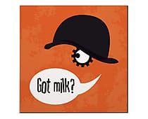 Placa Decorativa Got Milk? - 20x20cm