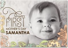 Happy First Mother's Day! Personalized cards at treat.com