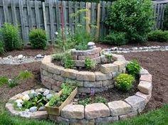 Easy Herb Spiral Garden Design Ideas for Small Yard Inspiration Herb Garden Design, Garden Web, Vegetable Garden Design, Garden Plants, Herb Spiral, Spiral Garden, Ideas Para Decorar Jardines, Raised Herb Garden, Herb Gardening