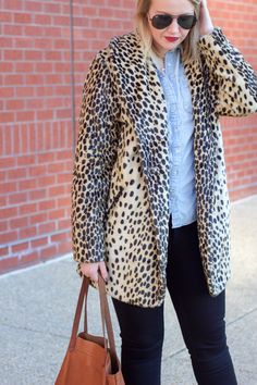 leopard, chambray and black | a dash of gold