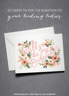 """Pop the question is style - 20 """"will you be my bridesmaid?"""" cards 