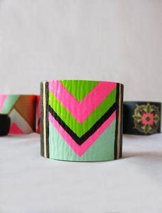 SaleColorful Tribal / Chevron Style / NEON Blue by cosmorones