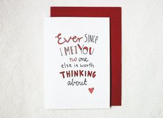Anniversary card * love card for him for her * i love you card * hand drawn love card * size A6 comes with red envelope