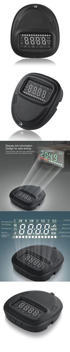 HUD 2.0 inch A1 GPS Car Head Up Display HUD Speedometers Dashboard Driving Time Kilometers Windshield Projector Alarm Reminder